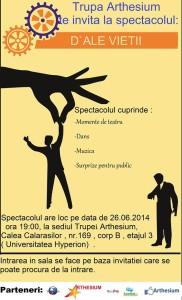 spectacol Arthesium 26 iunie