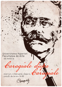 Afis aniversare I. L. Caragiale